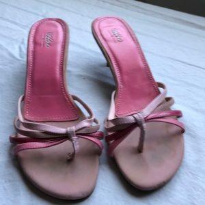Pink straps sandals